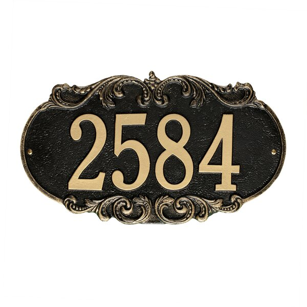 Charrington 1-Line Wall Address Plaque by Old Century Forge