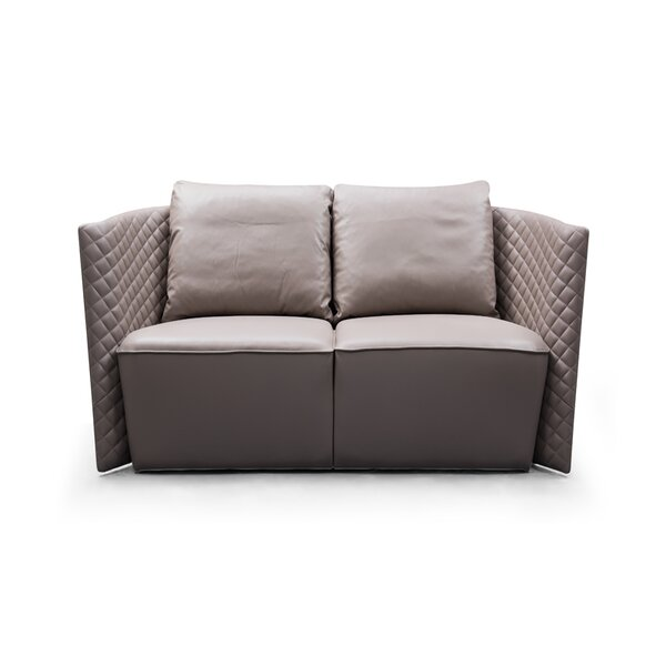 Francis Brown Leather Sofa By Orren Ellis by Orren Ellis Discount on ...