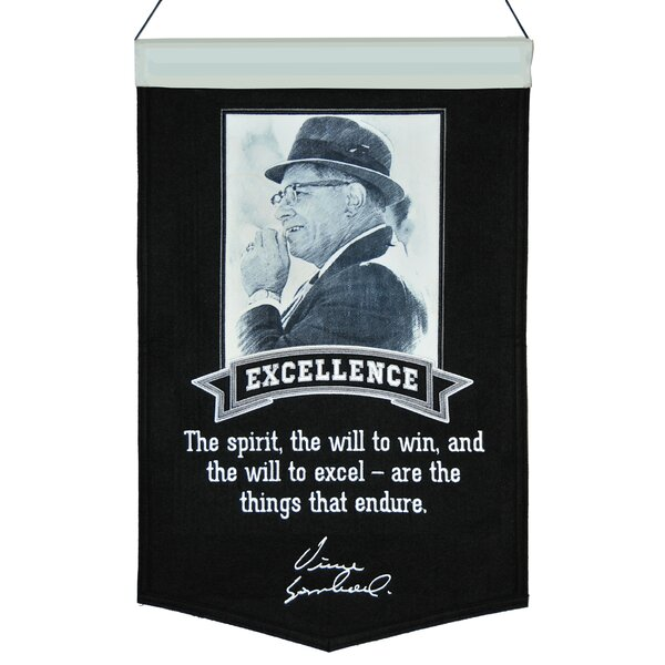 Lombardi Excellence Series Number 1 Banner Wall Décor by Winning Streak