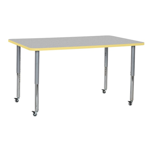 Contour Thermo-Fused Adjustable 60 x 36 Rectangular Activity Table by ECR4kids