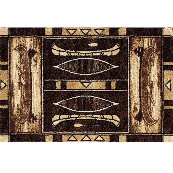 Vasser Native Canoe Beige/Brown Indoor/Outdoor Area Rug by Millwood Pines