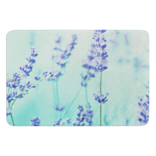 Mint Lavendar by Monika Strigel Bath Mat by East Urban Home