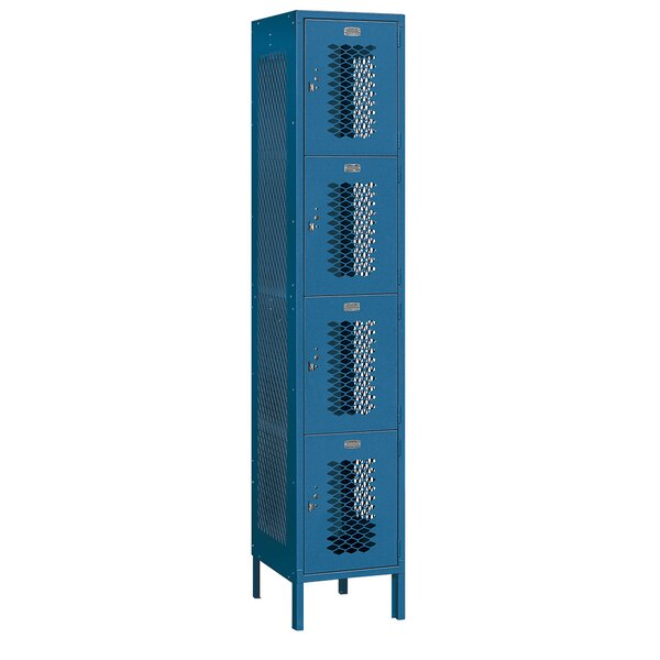 4 Tier 1 Wide Employee Locker by Salsbury Industries4 Tier 1 Wide Employee Locker by Salsbury Industries