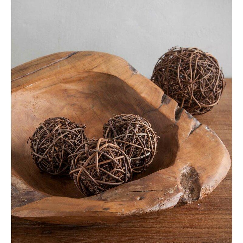 Josselyn Rattan Ball Dcor 5 Piece Vase Filler Set Joss Main