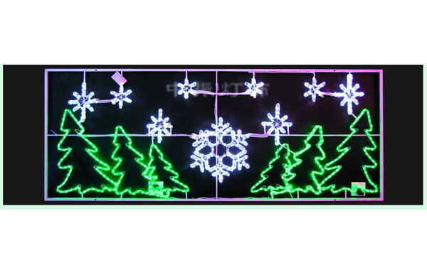 LED Motif Christmas Tree and Snowflakes Rope Lighting by Queens of Christmas