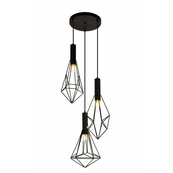 Mullikin 3-Light Cluster Pendant by Wrought Studio