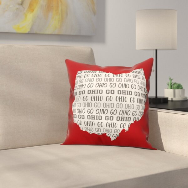 Ohio Go Team Throw Pillow by East Urban Home