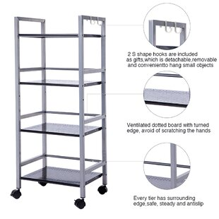 Shopping for Maura 4-Tier Multifunctional Rolling Steel Baker's Rack Compare