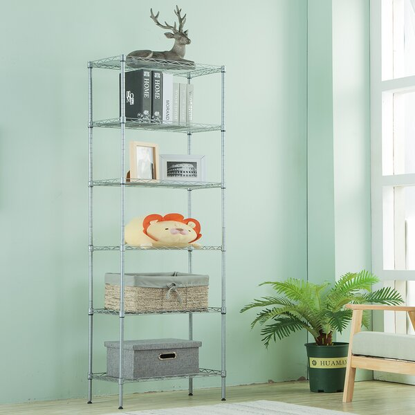 63 H x 21.3 W 6-Tier Wire Shelving Unit Organization by LANGRIA