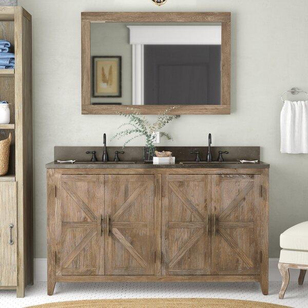 Rosalinda Solid Elm 60 Bathroom Vanity Set with Mirror