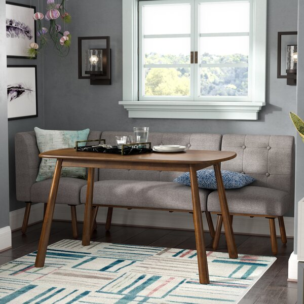 Bucci 4 Piece Breakfast Nook Dining Set by Ivy Bronx