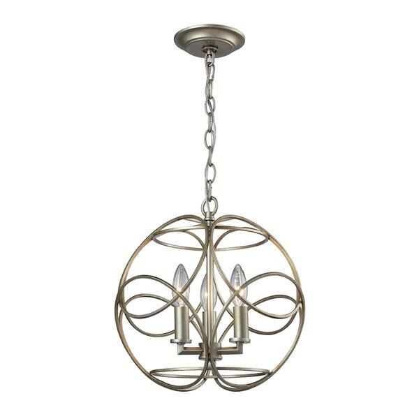 Kiyoko 3-Light Globe Chandelier by Darby Home Co