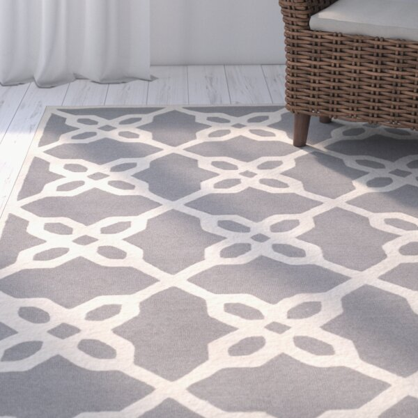 Linden Hand-Tufted Dark Gray / Ivory Area Rug by Breakwater Bay