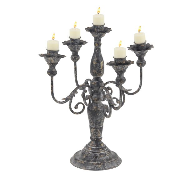 Rustic Metal Candelabra by Ophelia & Co.