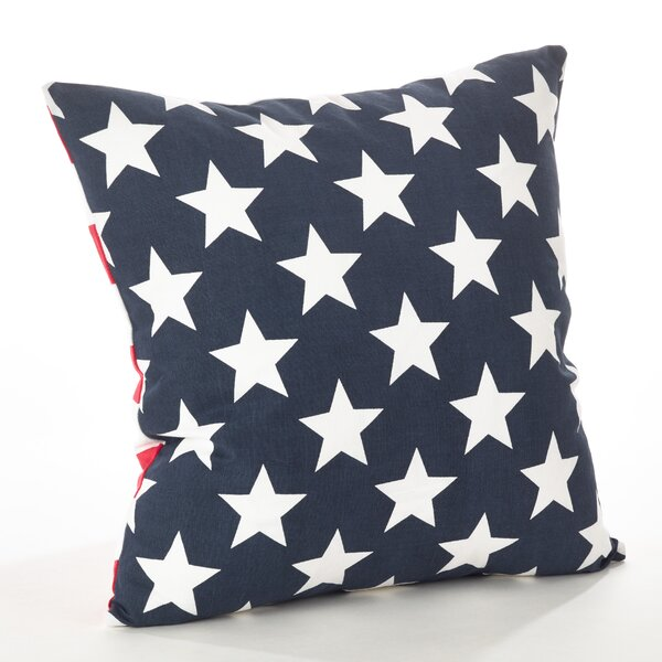 Star Spangled Star and Striped Cotton Throw Pillow by Saro
