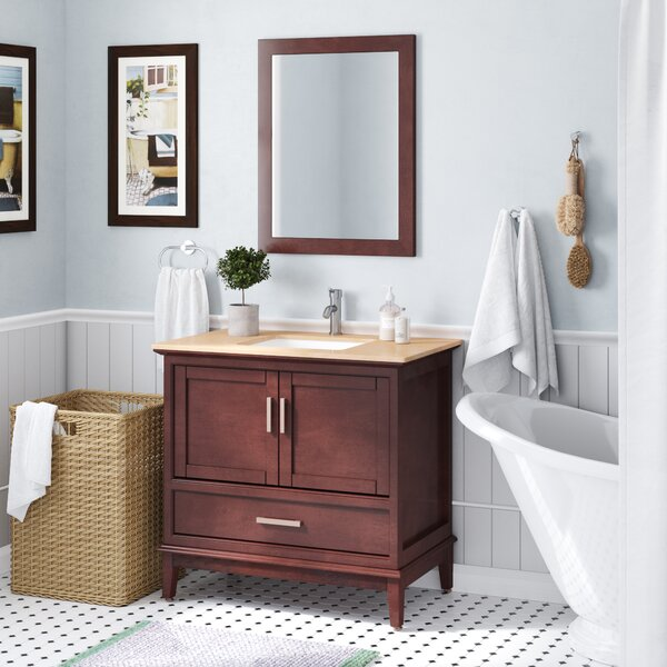 Middleton 24 Single Bathroom Vanity Set with Mirror by Andover MillsMiddleton 24 Single Bathroom Vanity Set with Mirror by Andover Mills