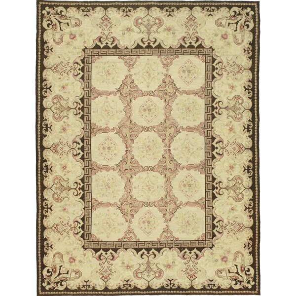Hand Knotted Wool Ivory/Tan/Brown Rug