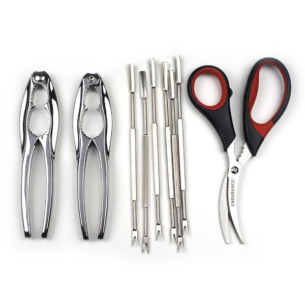 8-Piece Seafood Tool with Scissors Set by RSVP-INTL