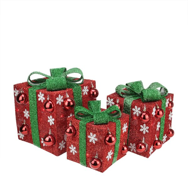 3 Piece Bows Lighted Christmas Yard Art Decorations Set by Northlight Seasonal