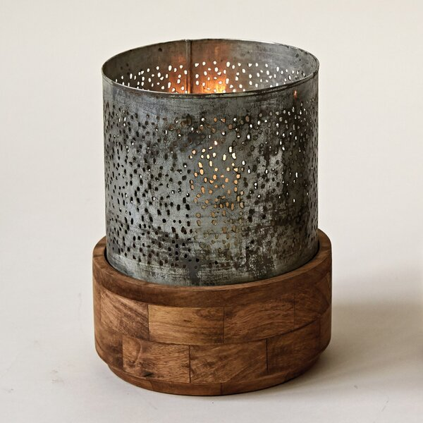 Metal and Wood Hurricane by Union Rustic