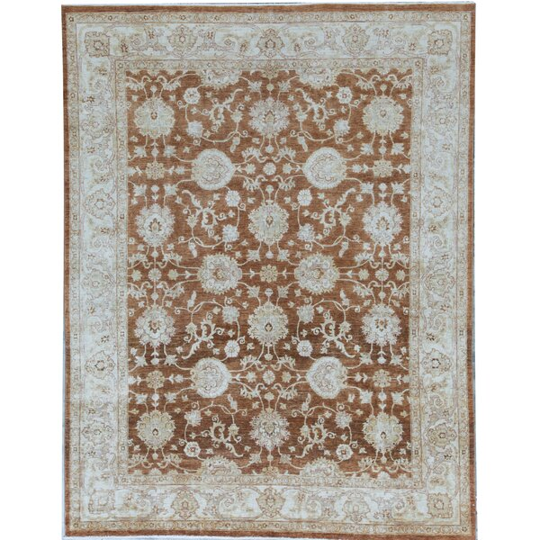 Ziegler Oriental Hand-Knotted Wool Light Blue Area Rug