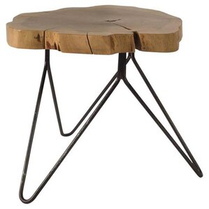 Evered Wooden Log Top End Table by Inspired D?cor and Interiors