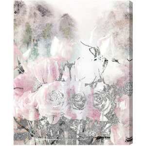 'Romance Lace and Roses' Graphic Art on Wrapped Canvas by Willa Arlo Interiors