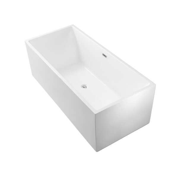 66 x 31.5 Freestanding Soaking Bathtub by Wildon Home ®