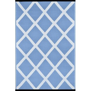 Great deal Lightweight Reversible Powder/White Indoor/Outdoor Area Rug ByWildon Home ®