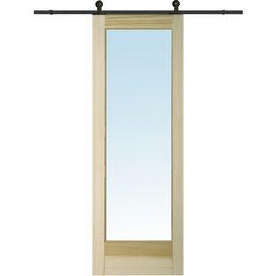 Wood 1-Panel Natural Interior Barn Door  sc 1 st  Wayfair & 30x80 Barn Door   Wayfair