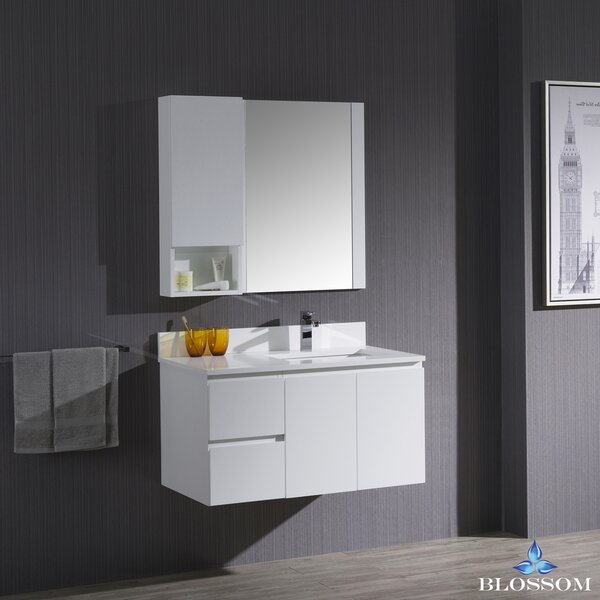 Maly 37 Single Bathroom Vanity with Mirror by Orren Ellis