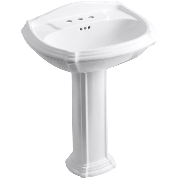 Portrait® Ceramic 27 Pedestal Bathroom Sink with Overflow by Kohler