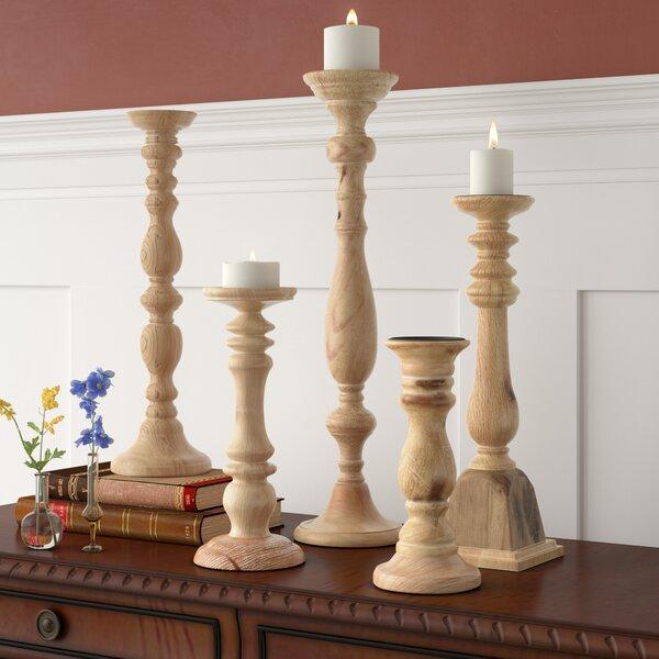 5-Piece Turned Candleholder Set by Birch Lane™
