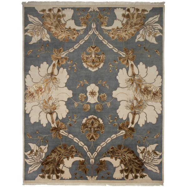 Jewel Hand-Knotted Area Rug by Shalom Brothers