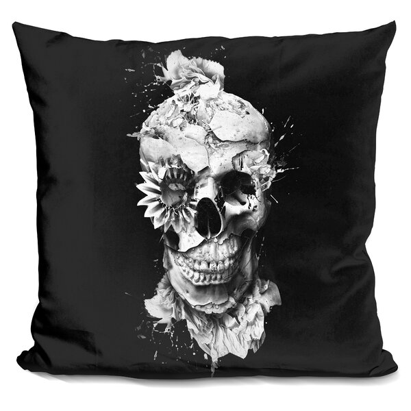 Skeleton Throw Pillow by East Urban Home