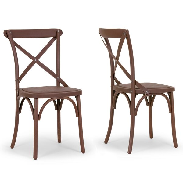 Aleah Patio Dining Chair (Set of 2) by Glamour Home Decor