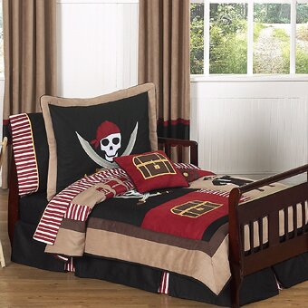 Pirate Treasure Cove 5 Piece Toddler Bedding Set by Sweet Jojo Designs