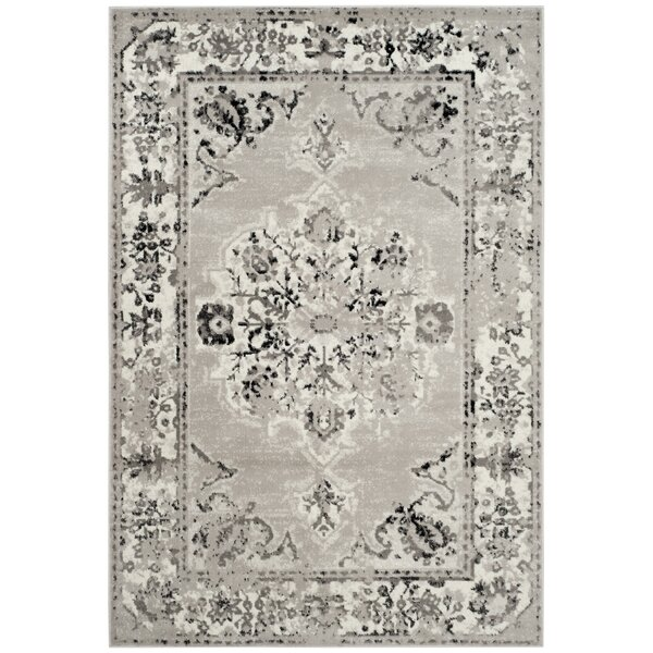 Doty Gray/Ivory Area Rug by Bungalow Rose