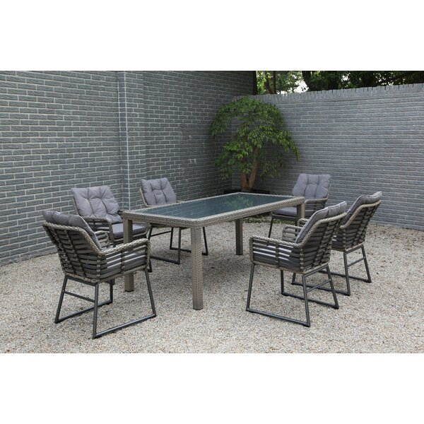 Clapham 7 Piece Dining Set by Bungalow Rose