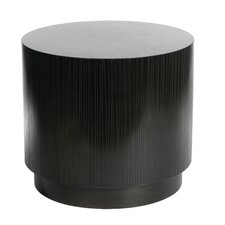 Garis Cylinder End Table by Indo Puri