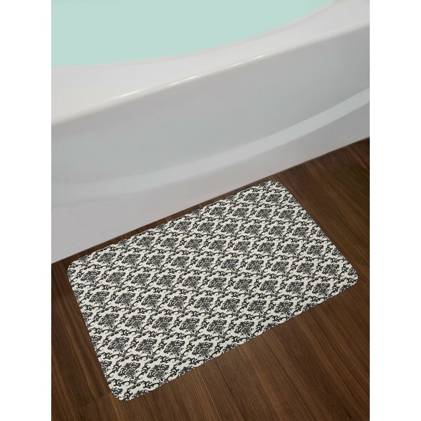 Contemporary Western Damask Bath Rug by East Urban Home
