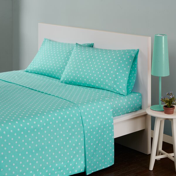 Glaude Polka Dot 180 Thread Count Cotton Sheet Set by Ebern Designs