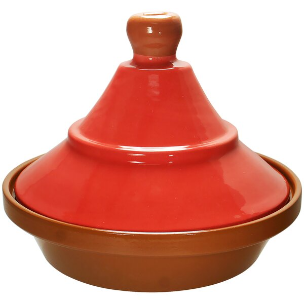 Eurita 2 Qt. Madrid Hand Painted Terracotta Round Tagine by Reston Lloyd