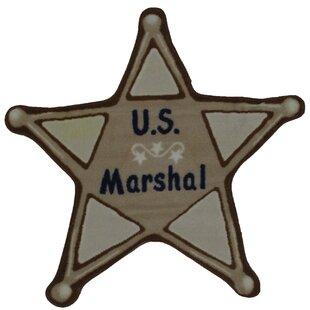 Affordable Fun Shape High Pile U.S. Marshall Brown Kids Rug ByFun Rugs