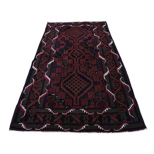 Find One-of-a-Kind Banda Baluch Hand-Knotted 3'10 x 6'10 Wool Brown/Black/Red Area Rug By Isabelline