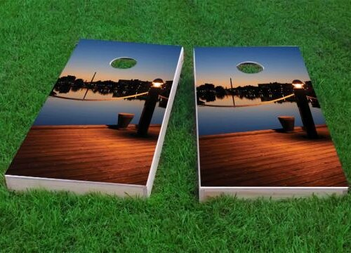 Pier Cornhole Game (Set of 2) by Custom Cornhole Boards