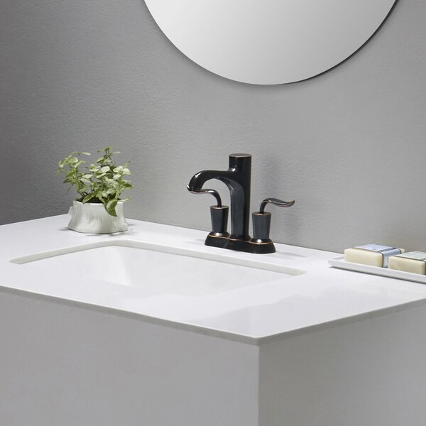 Elavo Ceramic Rectangular Undermount Bathroom Sink with Overflow by Kraus