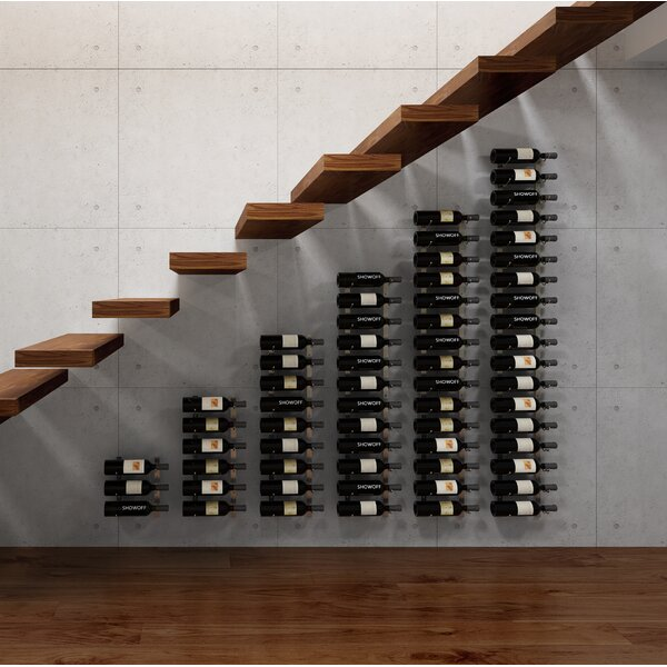 Wall Series Modular Under the Stairs 63 Bottle Wall Mounted Wine Rack by VintageView