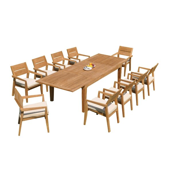 Caranas 11 Piece Teak Dining Set by Teak Smith