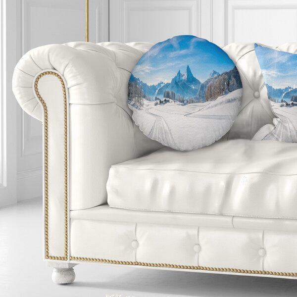 Winter Throw Pillow by East Urban Home